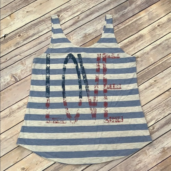 "Maurices Tops - Maurices ""Love"" Tank"